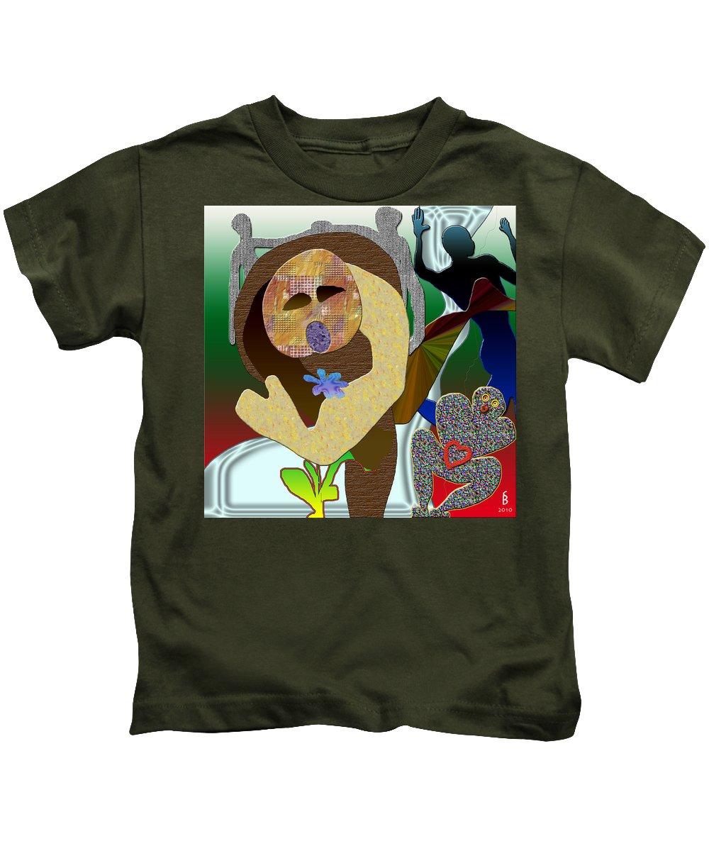 Flower Kids T-Shirt featuring the digital art Whitout Title by Sitara Bruns