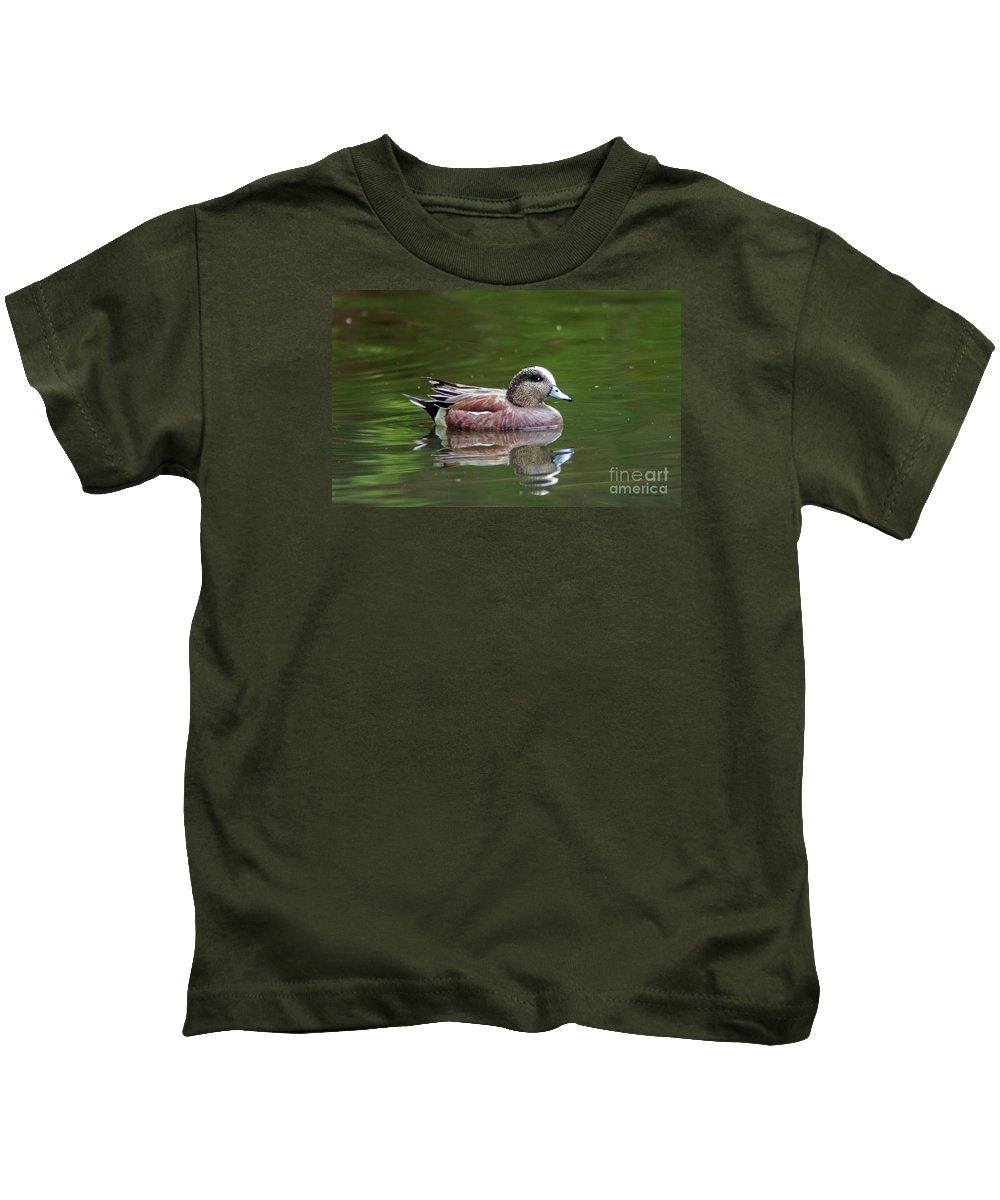 Wildlife Kids T-Shirt featuring the photograph Widgeon Duck by Robert Smitherman