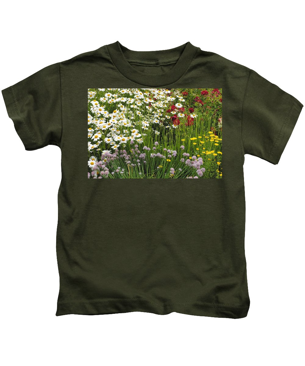 Flowers Kids T-Shirt featuring the photograph Wild Flowers by Jost Houk