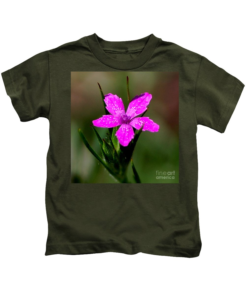 Digital Photo Kids T-Shirt featuring the photograph Wild Pink by David Lane