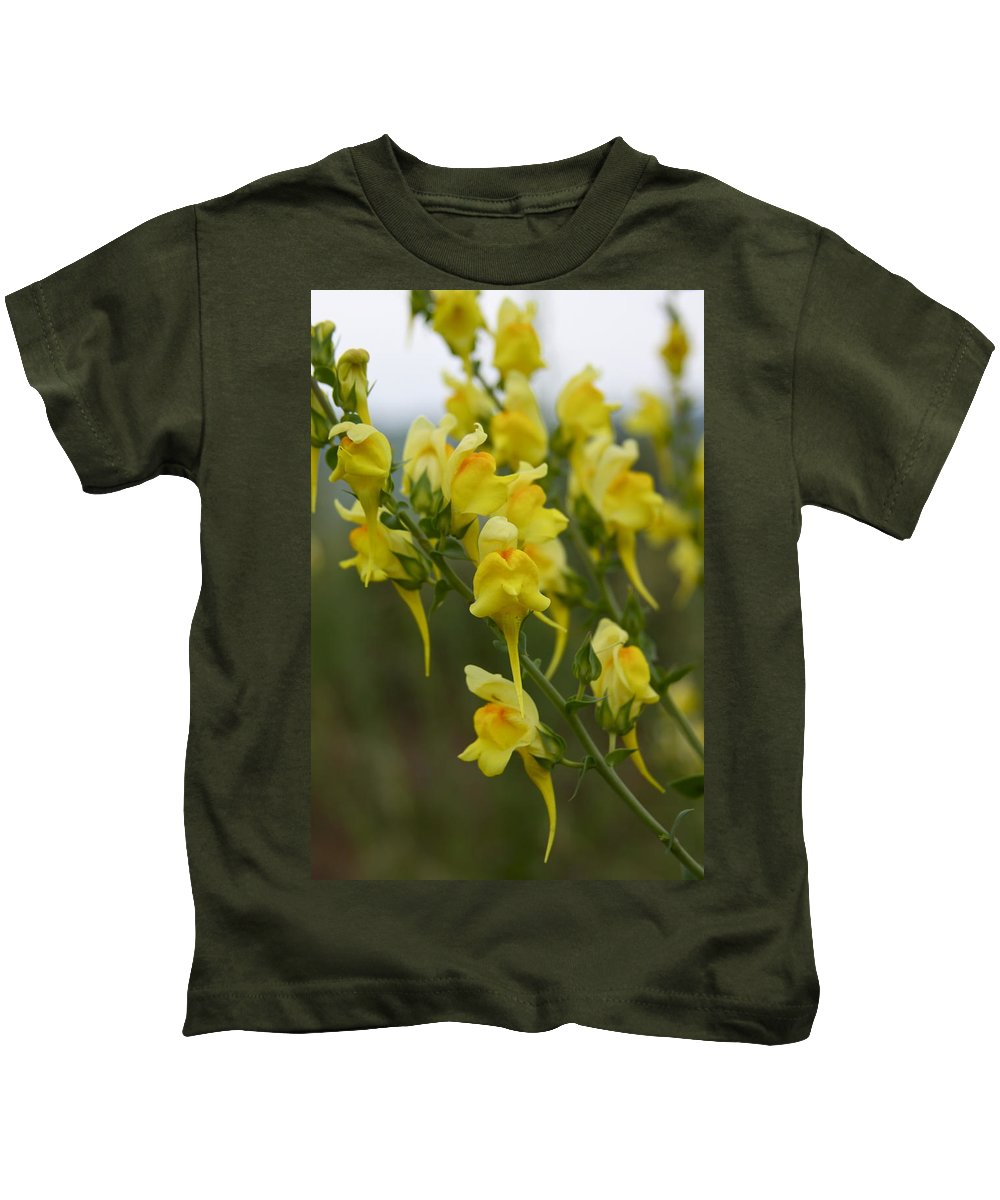 Snapdragon Kids T-Shirt featuring the photograph Wild Toadflax by Karon Melillo DeVega