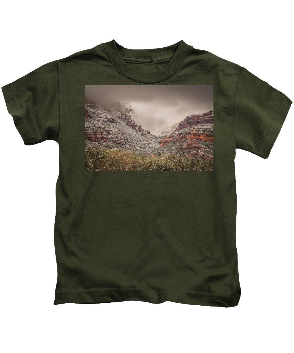 Boynton Canyon Kids T-Shirt featuring the photograph Boynton Canyon Arizona by Racheal Christian