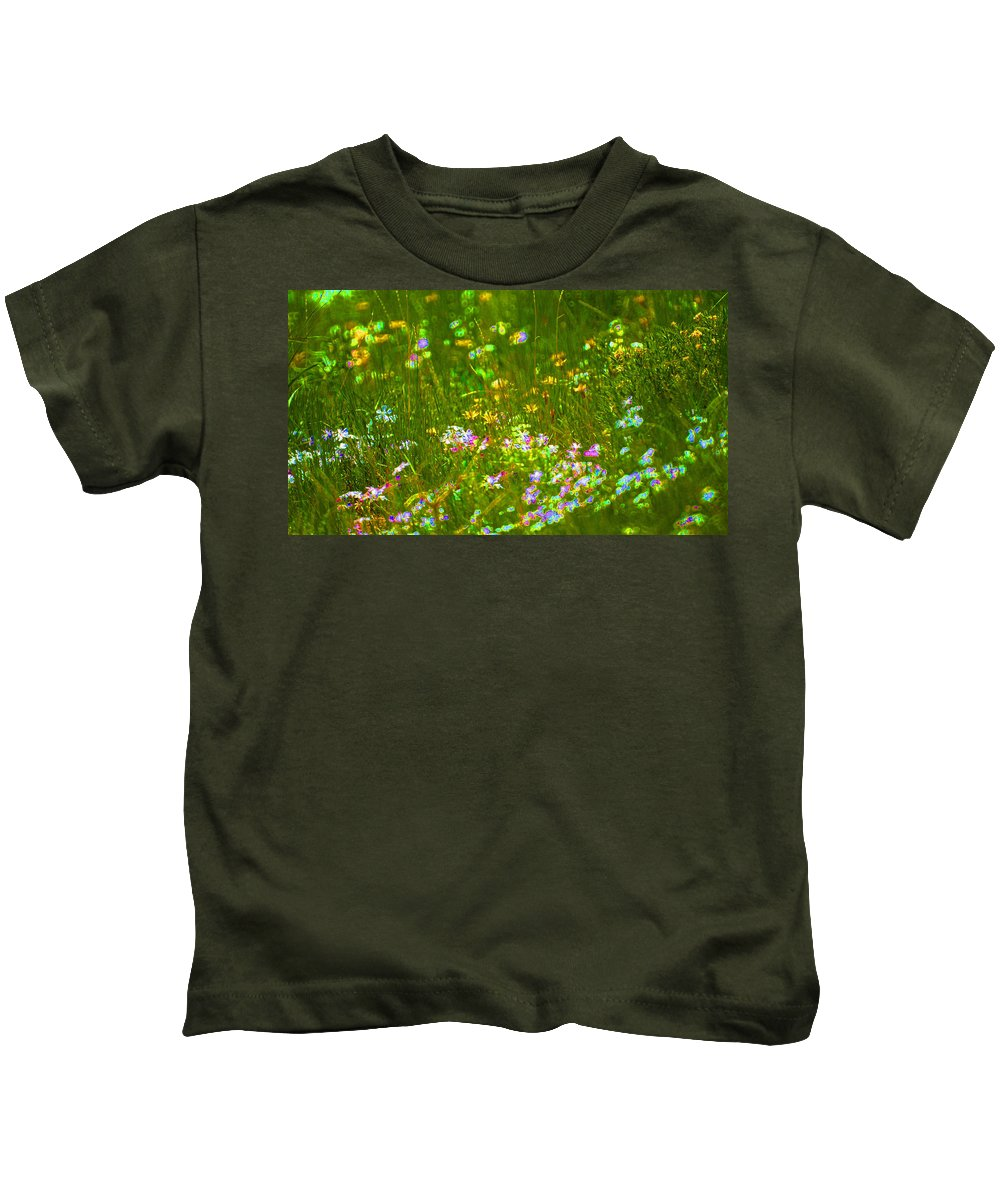 Wildflower Kids T-Shirt featuring the photograph Wildflower Field by Heather Coen