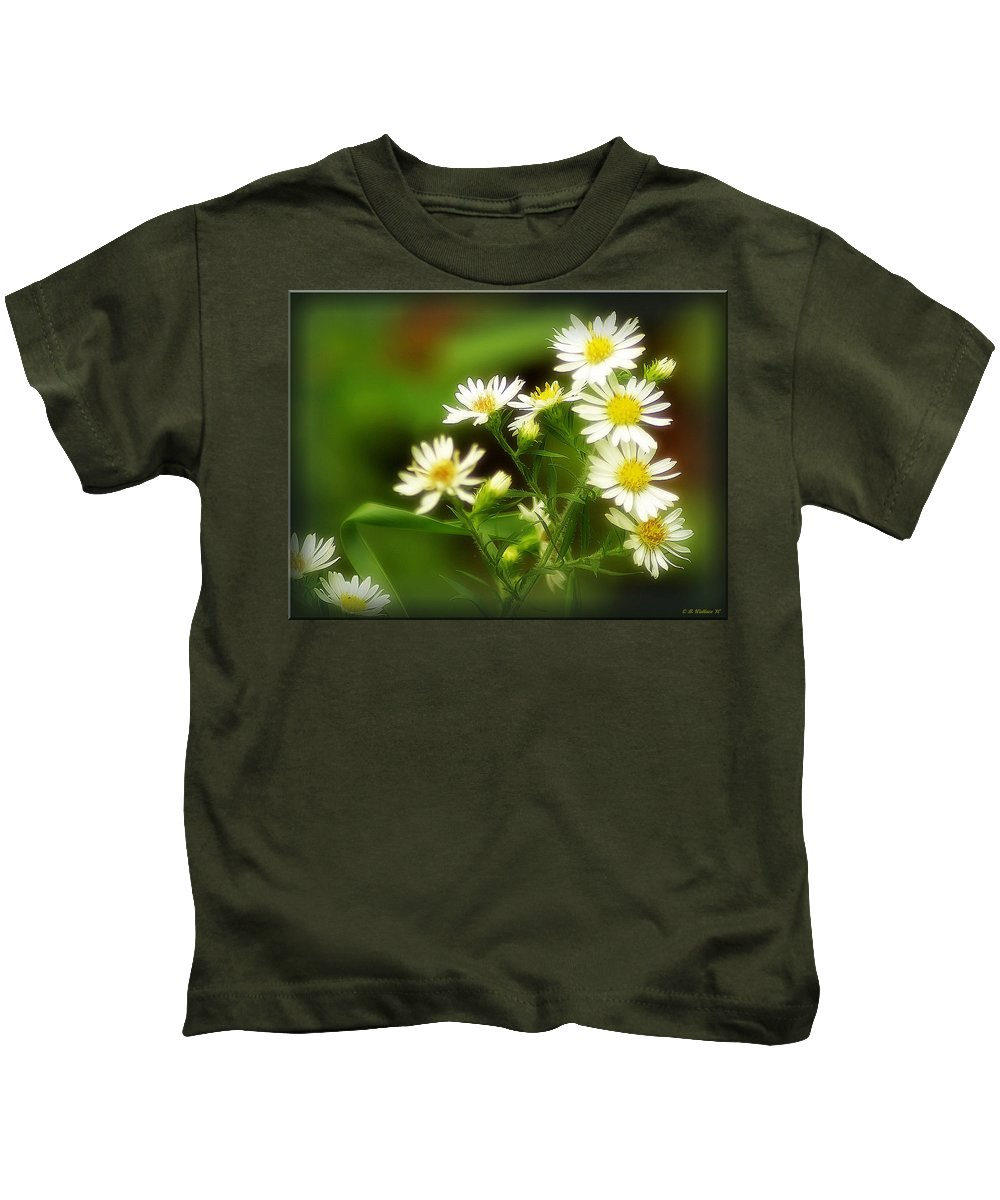 2d Kids T-Shirt featuring the photograph Wildflowers by Brian Wallace