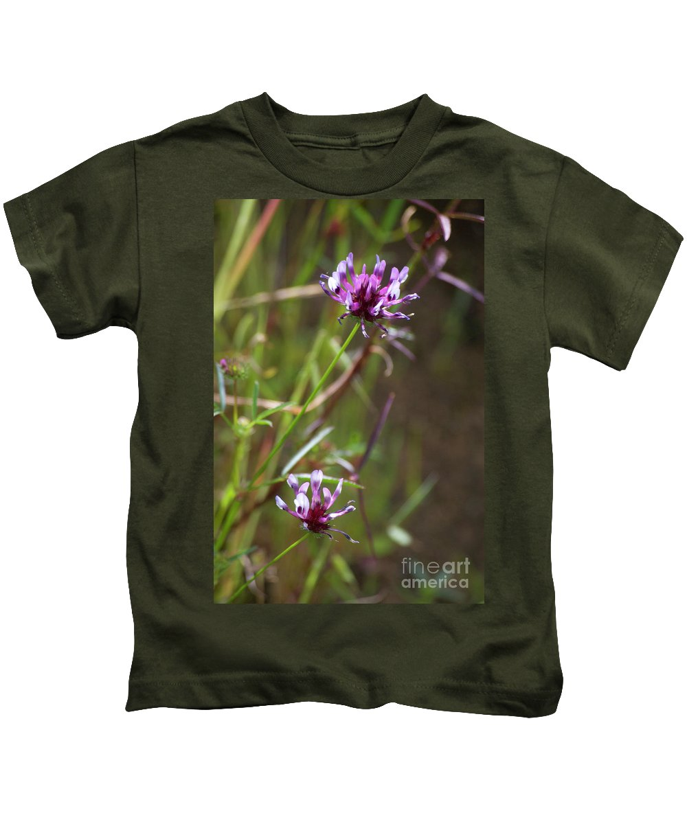 Pink Kids T-Shirt featuring the photograph Wildflowers by Jim And Emily Bush