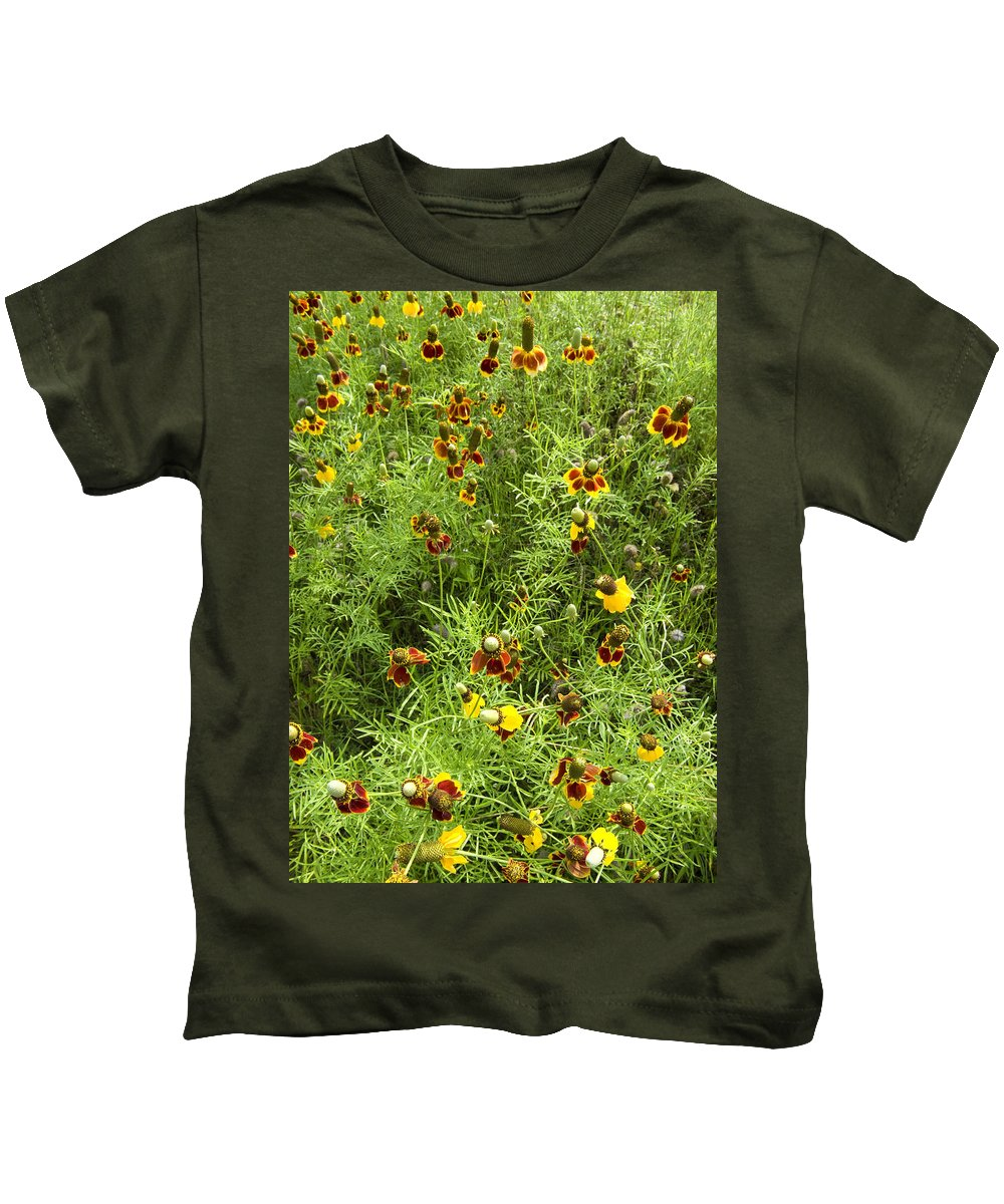Wildflower Kids T-Shirt featuring the photograph Wildflowers Nine by Stephen Anderson