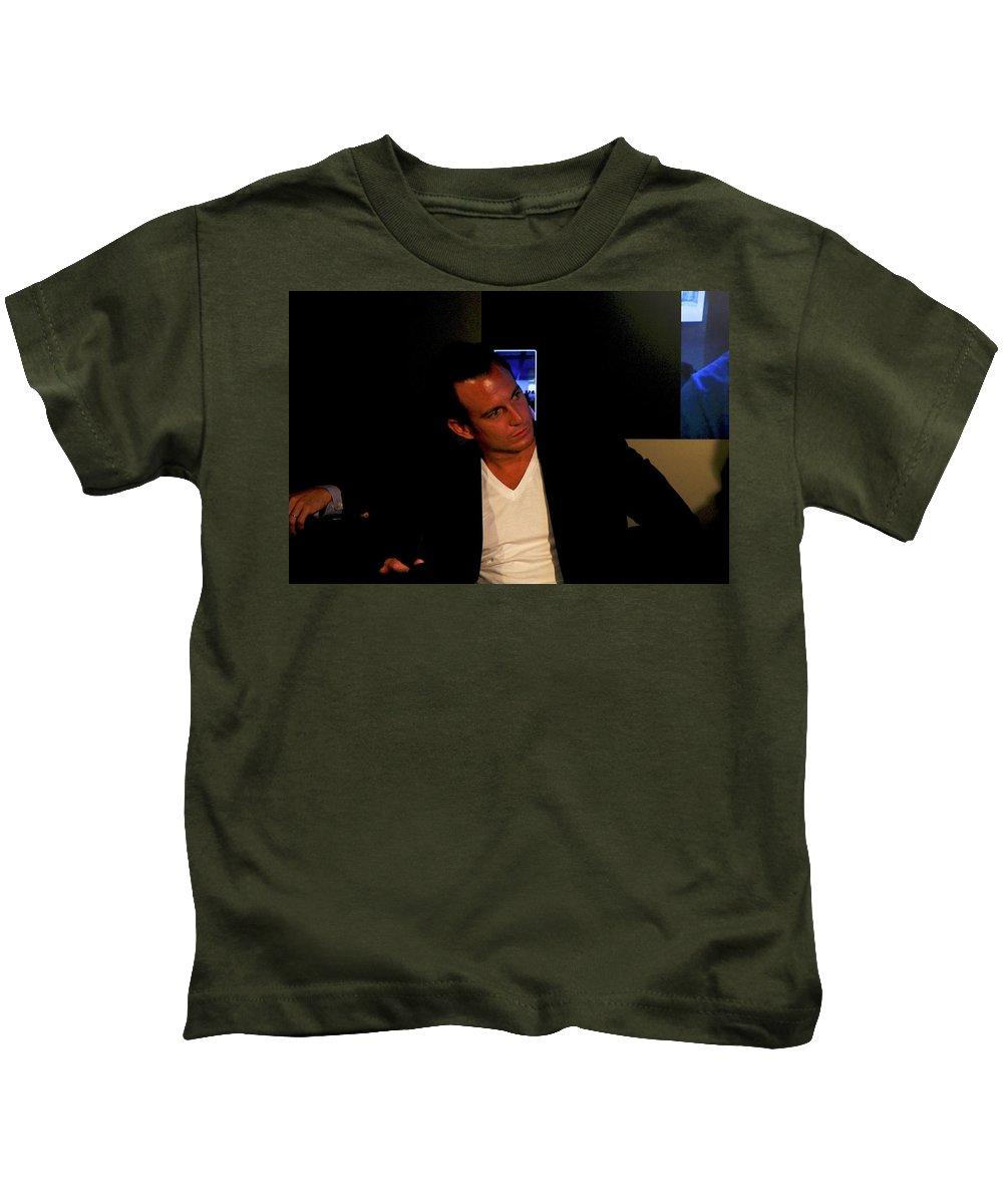 Will Arnett Kids T-Shirt featuring the digital art Will Arnett by Dorothy Binder