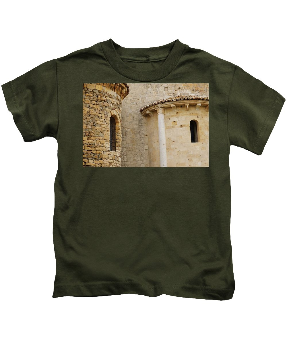 Italy Kids T-Shirt featuring the photograph Window Due - Italy by Jim Benest