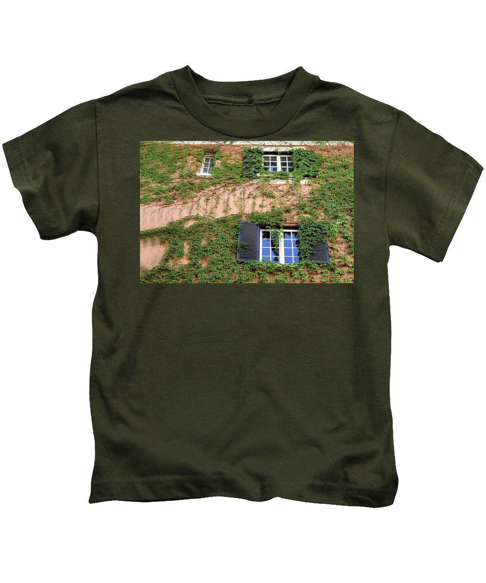 Window Kids T-Shirt featuring the photograph Windows by Munir Alawi