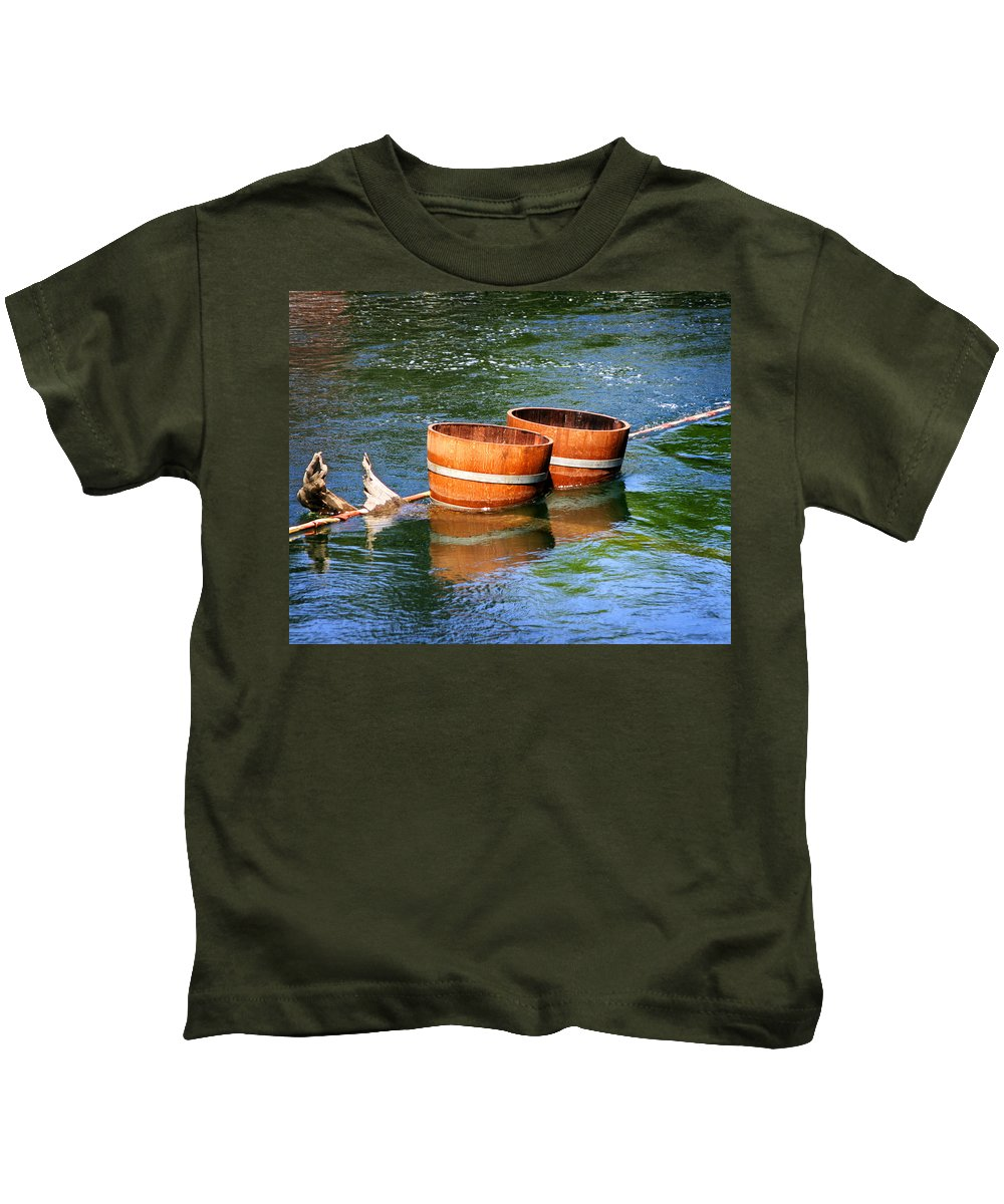 Wine Barrels Kids T-Shirt featuring the photograph Wine Barrels by Anthony Jones
