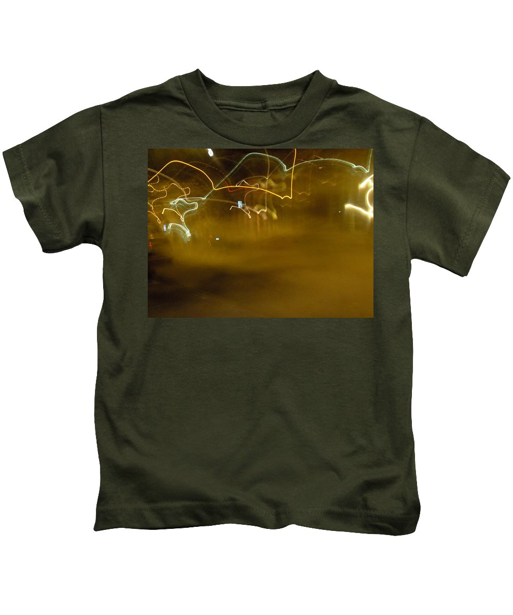 Photograph Kids T-Shirt featuring the photograph Winter Lights by Thomas Valentine