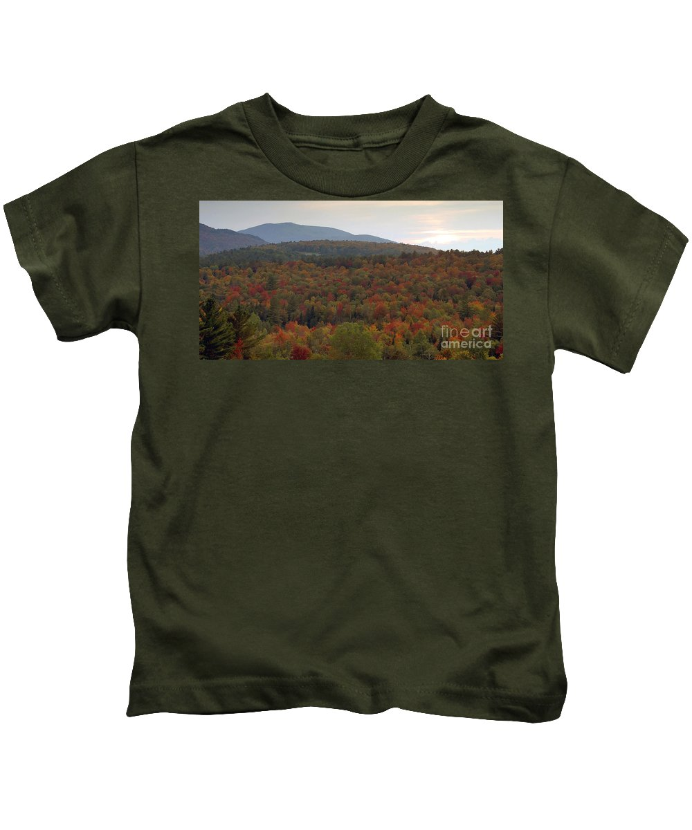 Fall Kids T-Shirt featuring the photograph Winters Approach by David Lee Thompson