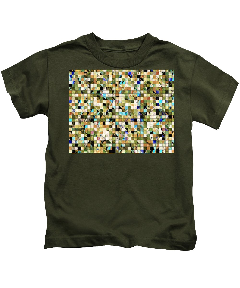 Wonderland Kids T-Shirt featuring the painting Wonderland by Dawn Hough Sebaugh