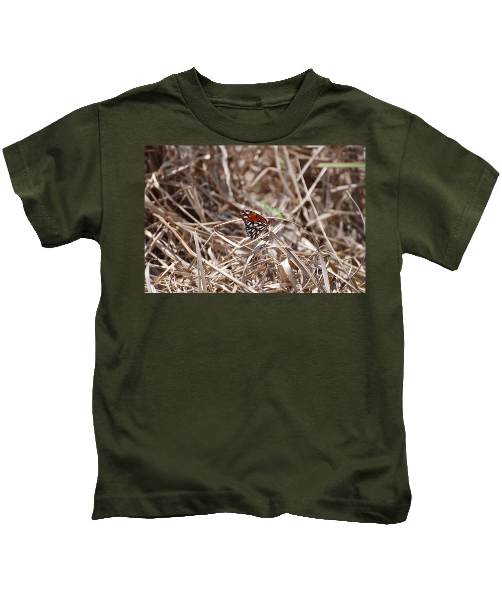 Butterfly Kids T-Shirt featuring the photograph Wooden Butterfly by Rob Hans