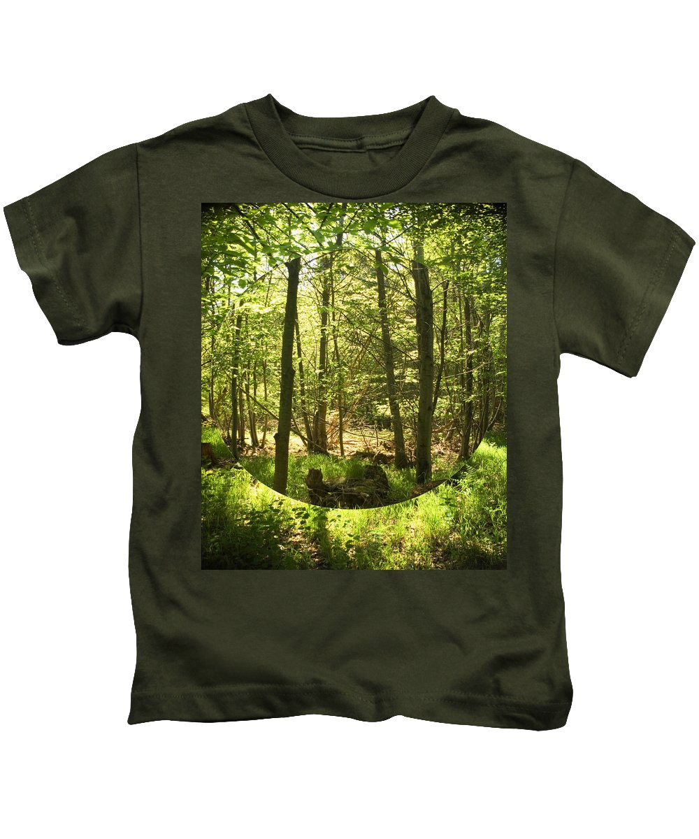 Forest Kids T-Shirt featuring the photograph Woodland Bubble by Alan Pickersgill