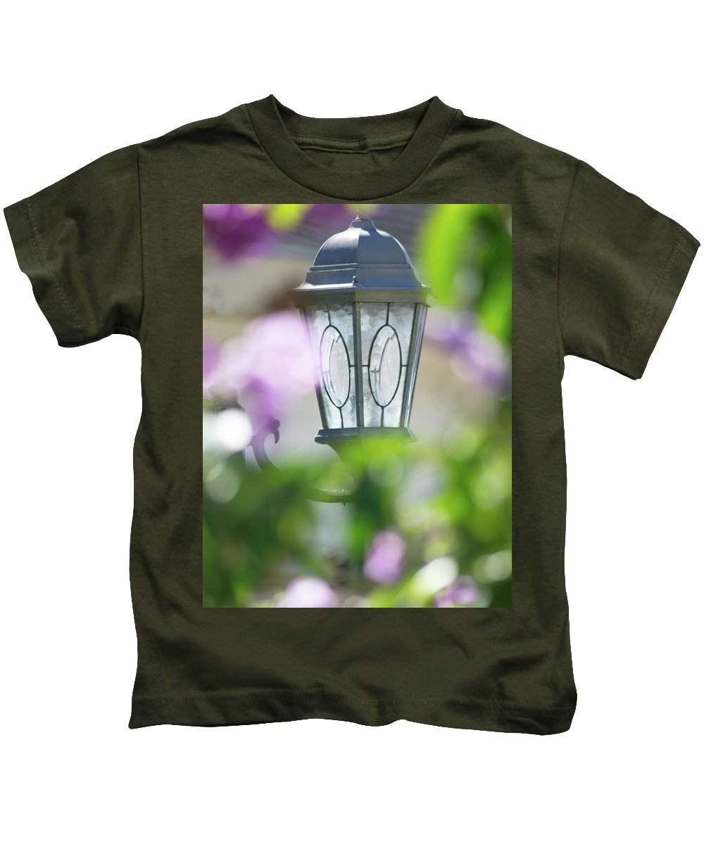 Flora Kids T-Shirt featuring the photograph Ye Old Lamp by Marshall Barth