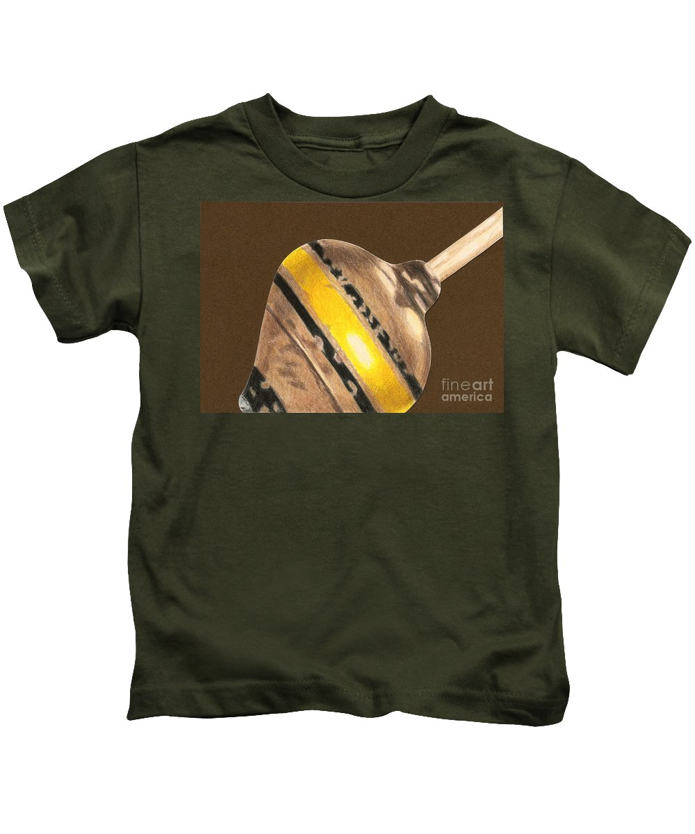 Drawing Kids T-Shirt featuring the drawing Yellow And Black Top by Glenda Zuckerman