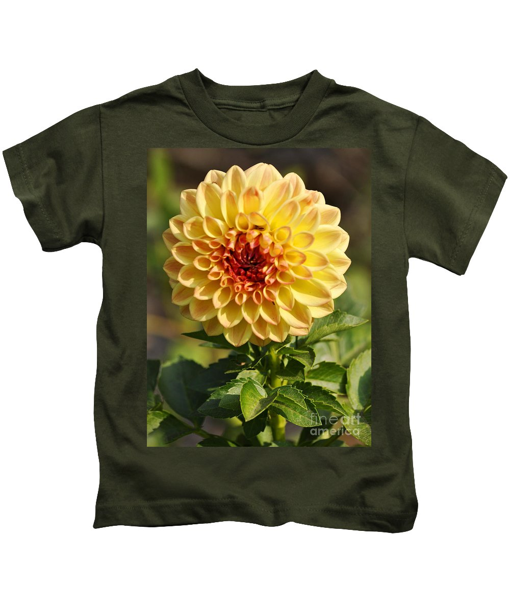 Clay Kids T-Shirt featuring the photograph Yellow Flora by Clayton Bruster