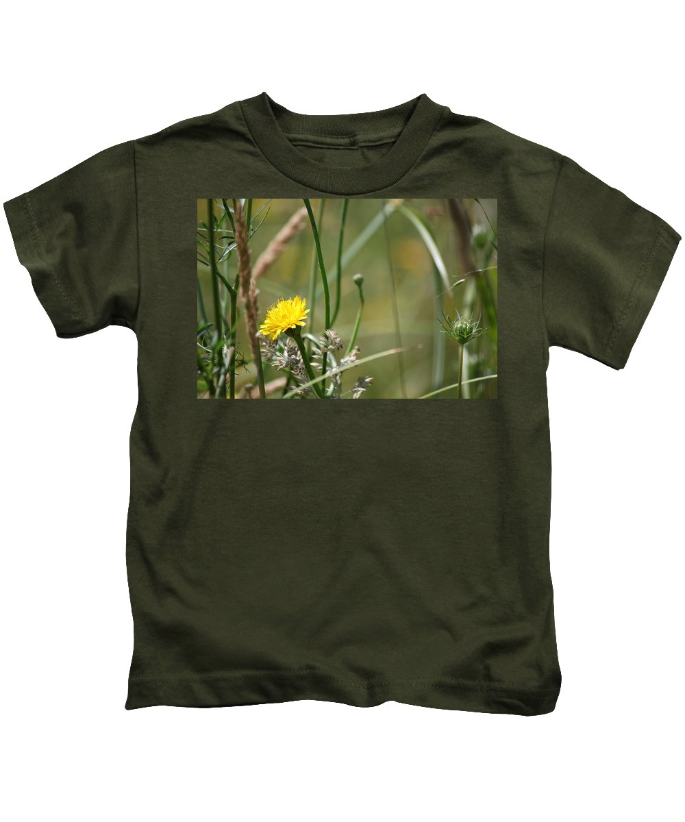 Yellow Kids T-Shirt featuring the photograph Yellow Flower by Didier Belrose