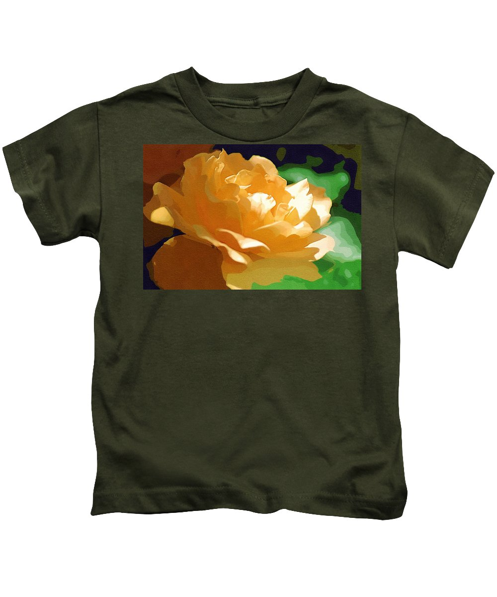 Yellow Rose Kids T-Shirt featuring the photograph Yellow Rose Of Texas by Donna Bentley