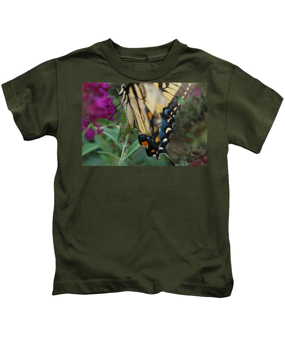 Butterfly. Yellow Kids T-Shirt featuring the photograph Yellow Swallow by Robert Meanor