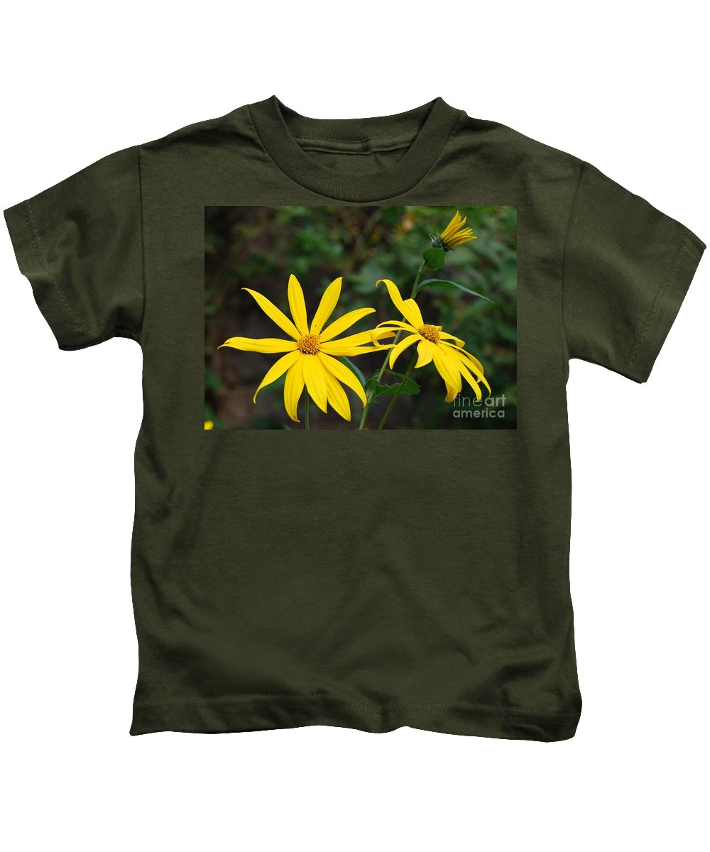 Flower Kids T-Shirt featuring the photograph Yellow Wild Flower by Eric Liller