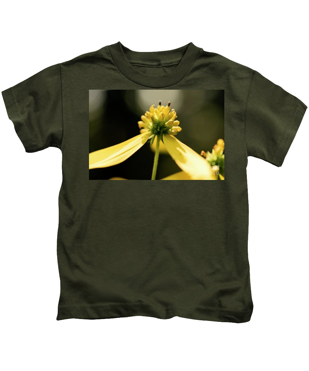 Yellow Flower Kids T-Shirt featuring the photograph Yellow Wildflower by Michelle Himes