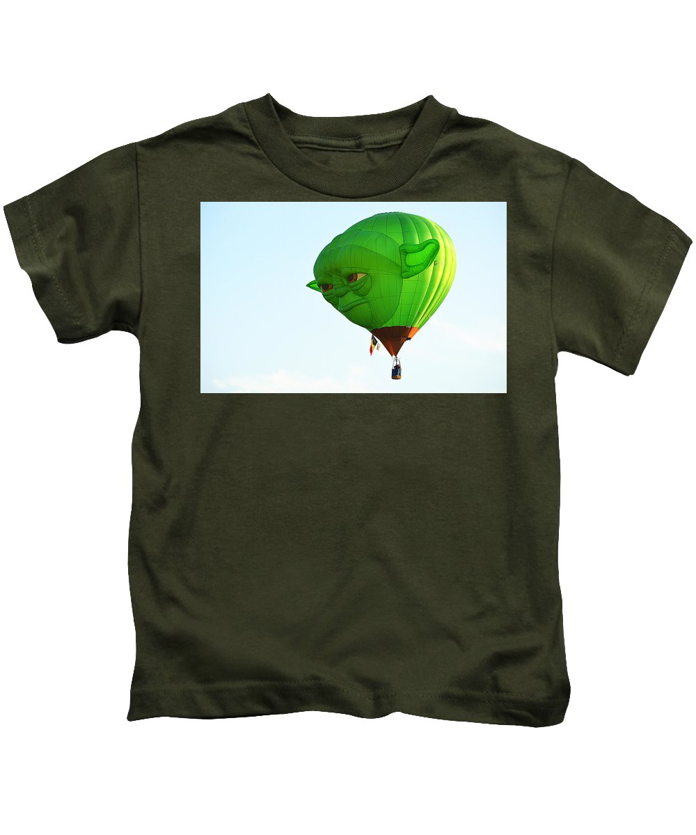 Scenic Kids T-Shirt featuring the photograph Yoda In The Sky by AJ Schibig