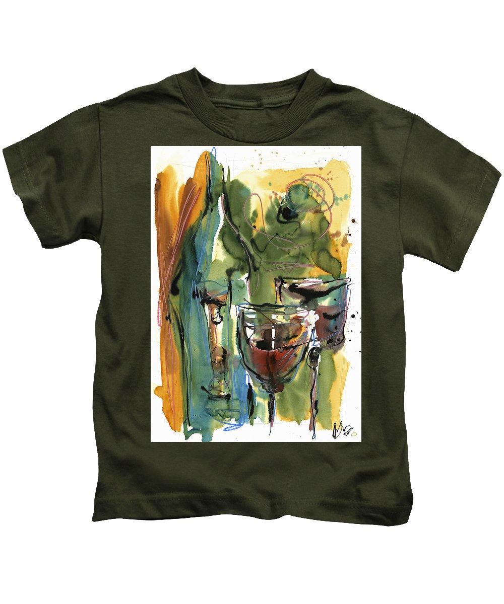 Wine Kids T-Shirt featuring the painting Zin-findel by Robert Joyner