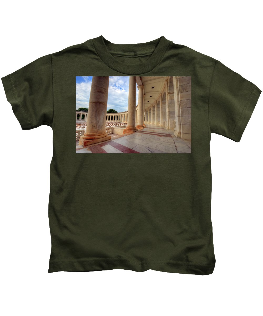 Craig Fildes Photography Kids T-Shirt featuring the photograph Arlington National Cemetery Memorial Amphitheater by Craig Fildes