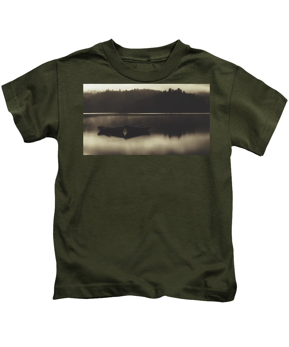 Poland Kids T-Shirt featuring the photograph Quiet Dawn by Pixabay