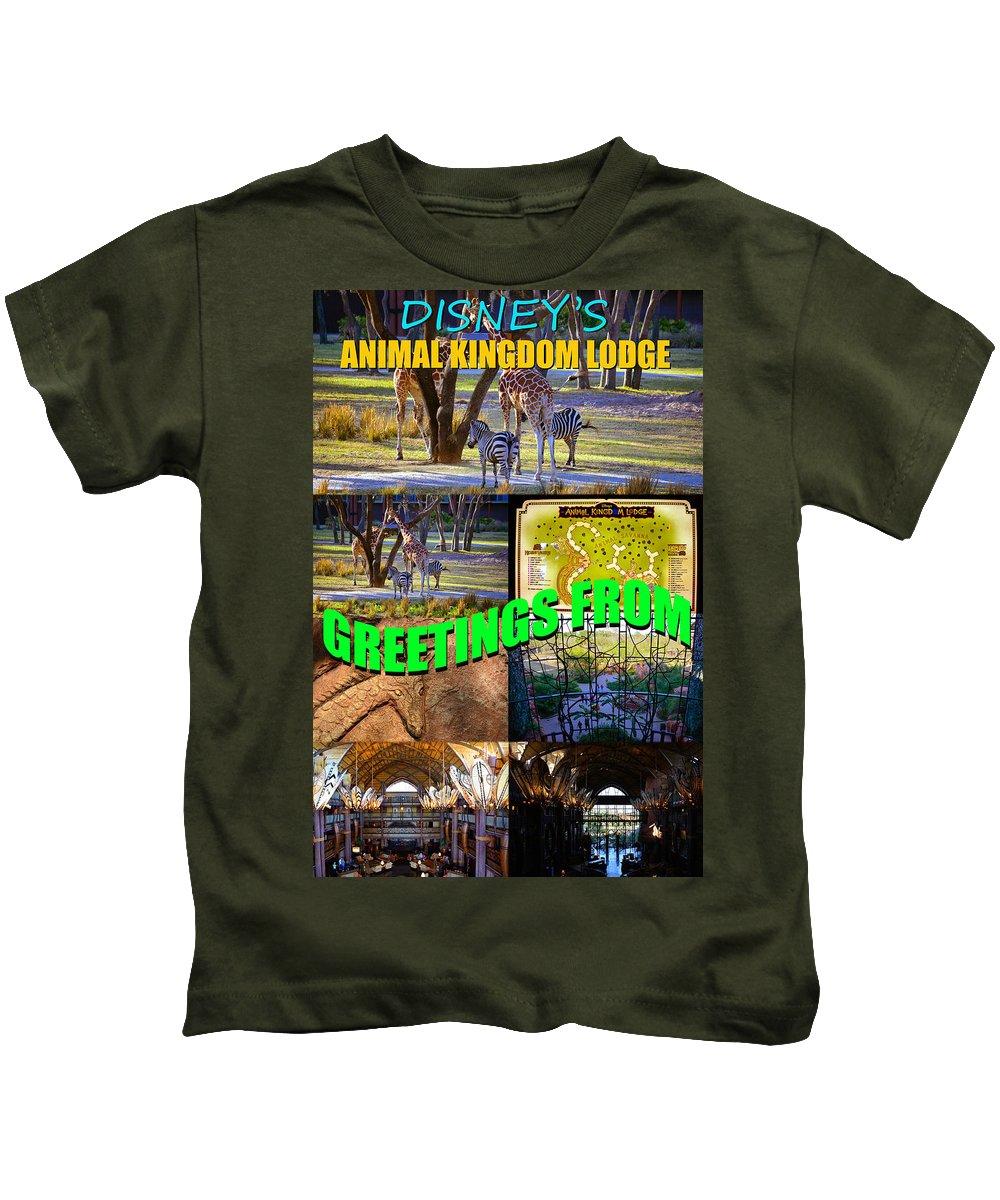 Animal Kingdom Lodge Kids T-Shirt featuring the photograph Animal Kingdom Custom Greeting Card by David Lee Thompson