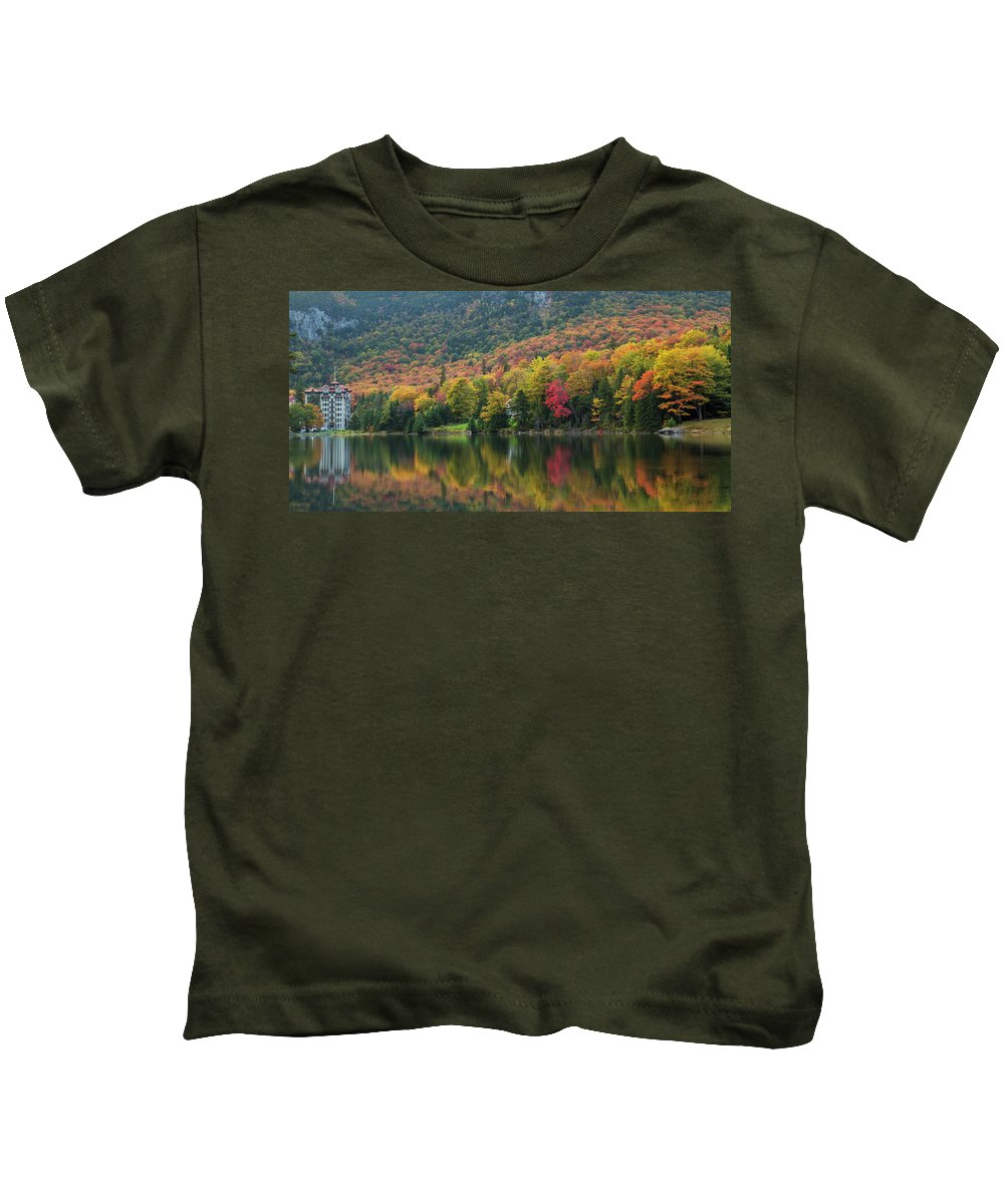 Balsams Kids T-Shirt featuring the photograph Balsams Autumn Reflections by Chris Whiton