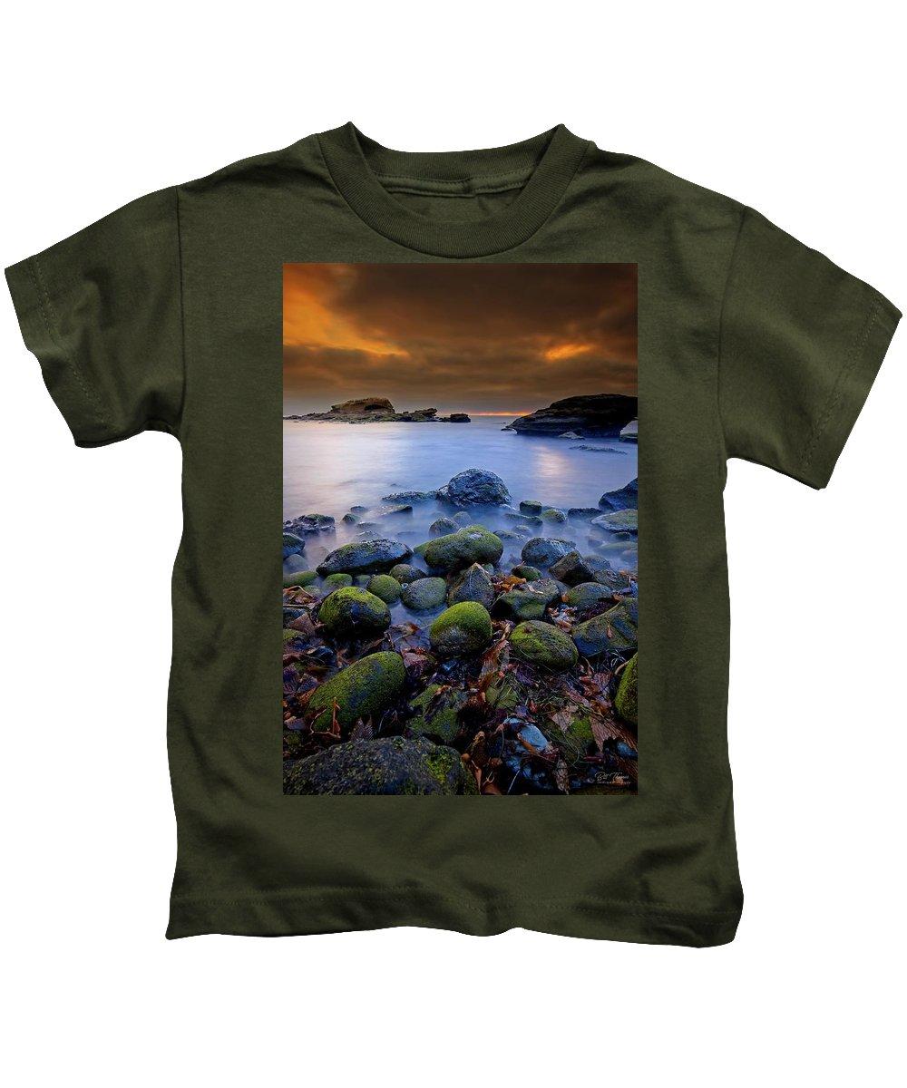 Sunset Kids T-Shirt featuring the photograph Bird Rock Lajolla II by Bill Thomas