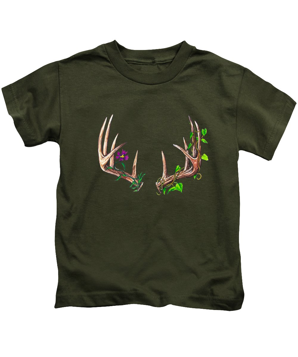 Druid Kids T-Shirt featuring the drawing Druid by Aaron Spong