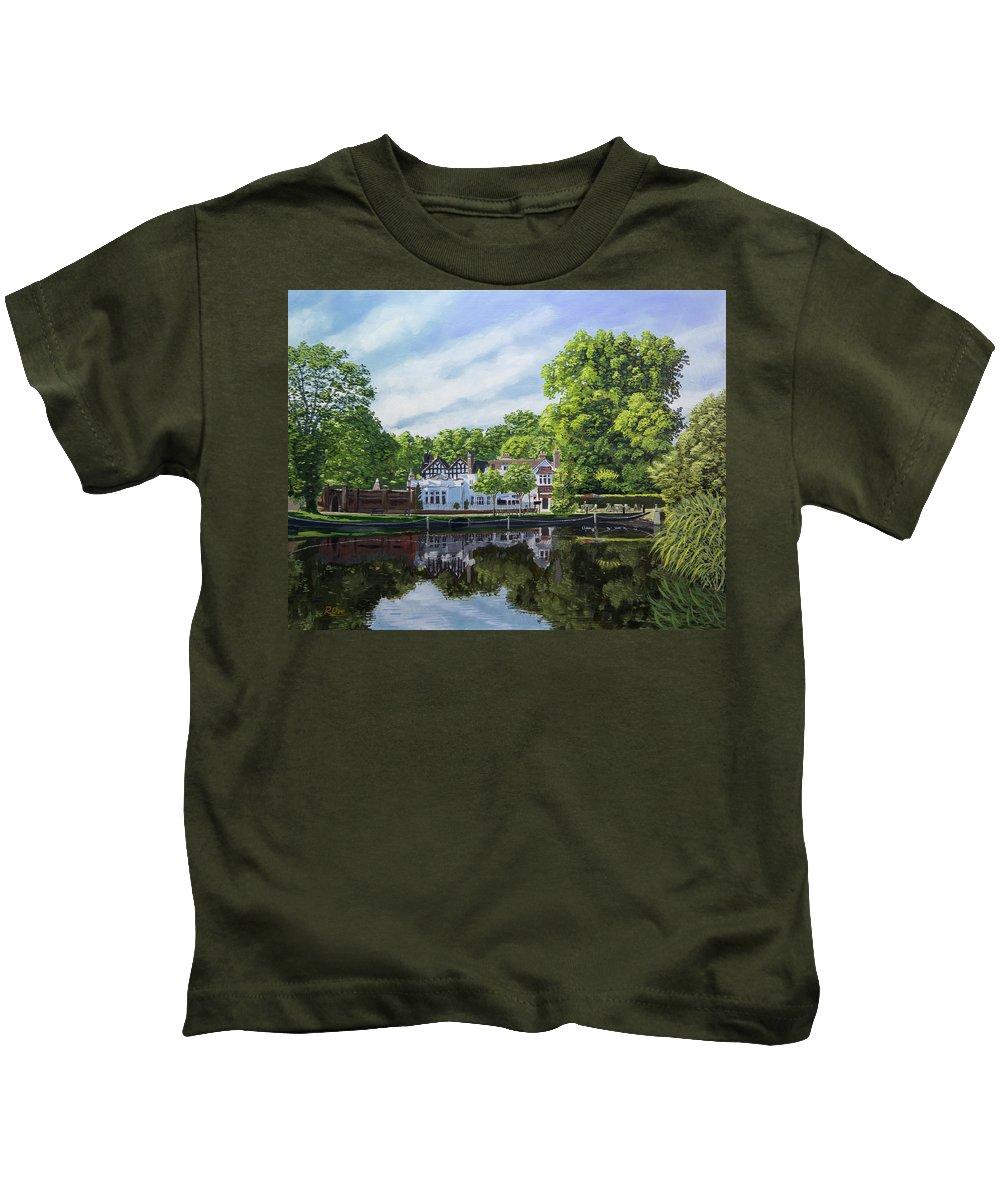 Honeywood Kids T-Shirt featuring the painting Honeywood by Raymond Ore