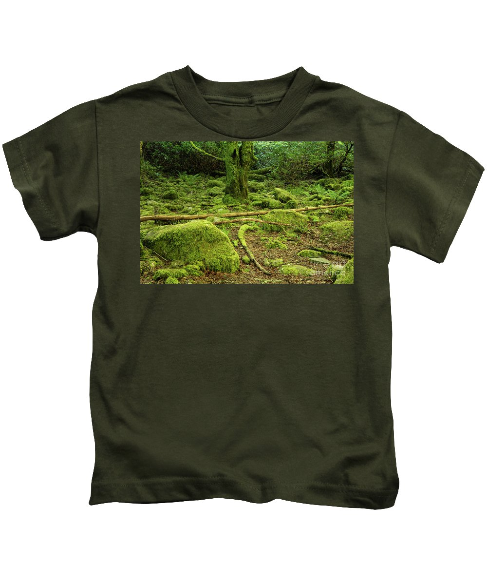 Torc Waterfalls Kids T-Shirt featuring the photograph Landscape At Torc Waterfalls by Bob Phillips