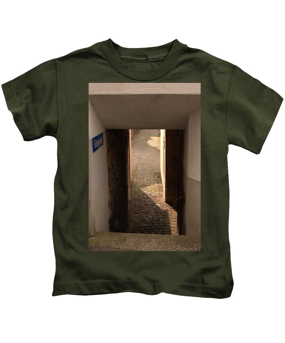 Fahrgasse Kids T-Shirt featuring the photograph lane in Cochem-Cond in Germany by Victor Lord Denovan