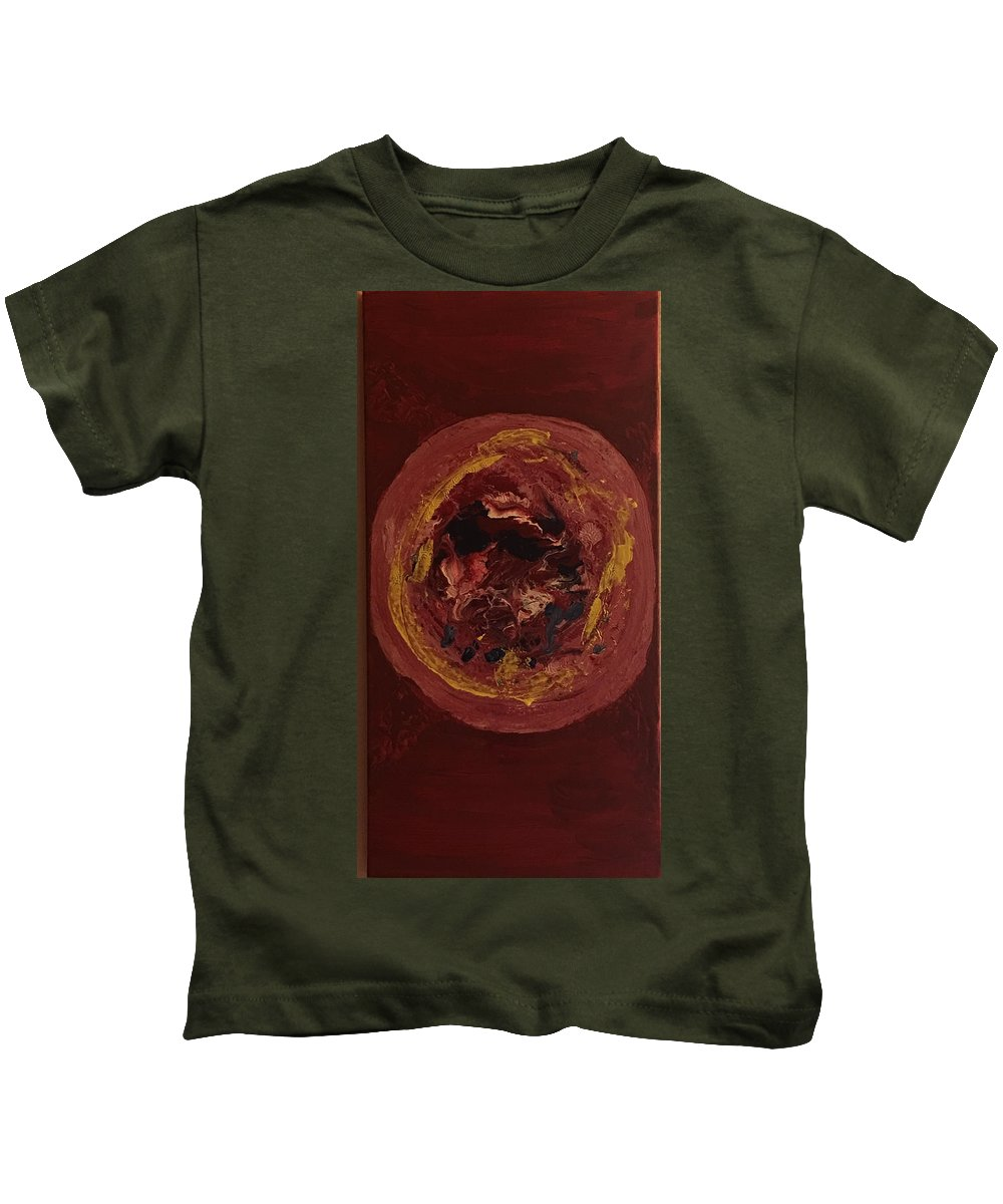 Acrylic Kids T-Shirt featuring the painting Lost In Space by Erin Hastedt