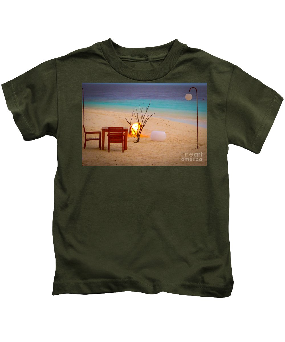 Romantic Kids T-Shirt featuring the photograph Romantic Beach by Eric Nagel
