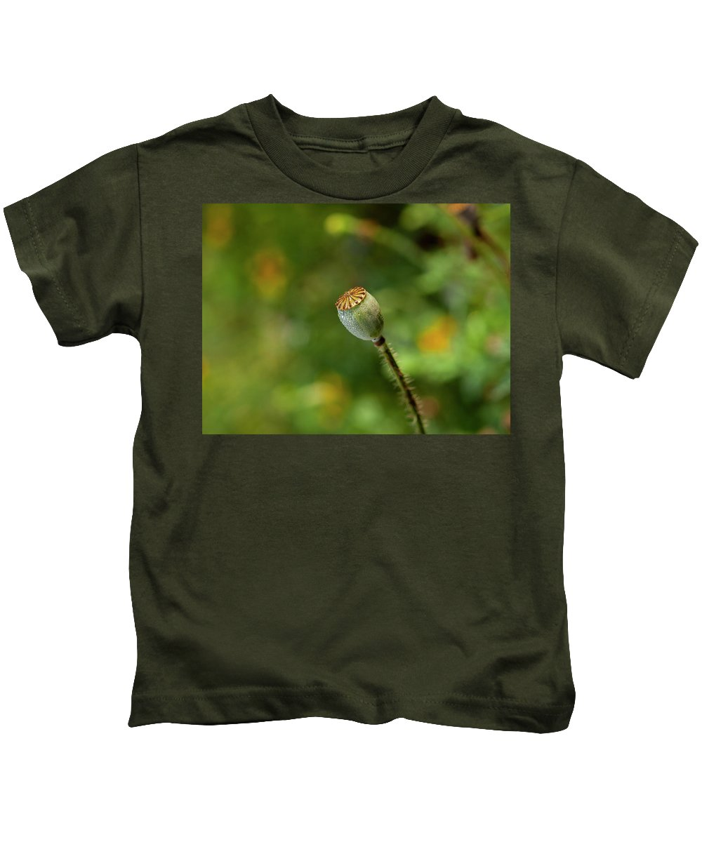 Shirley Poppy Kids T-Shirt featuring the photograph Shirley Poppy 2018-20 by Thomas Young