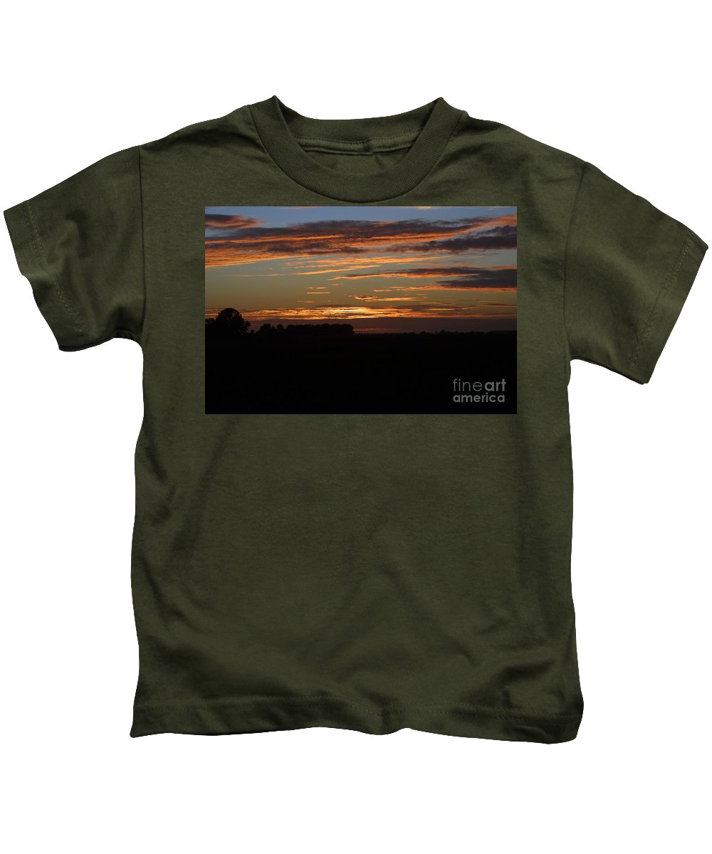 Sunset In Missouri Kids T-Shirt featuring the photograph Sunset In Southern Missouri by Darren Dwayne Frazier
