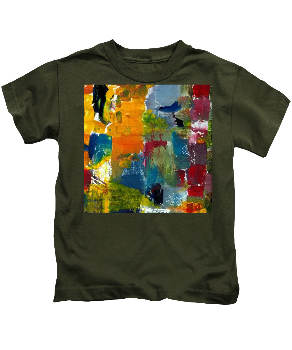 Abstract Collage Kids T-Shirt featuring the painting Abstract Color Relationships ll by Michelle Calkins
