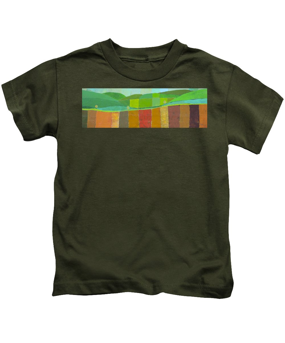 Landscape Kids T-Shirt featuring the painting Abstract Landscape 3 by Habib Ayat