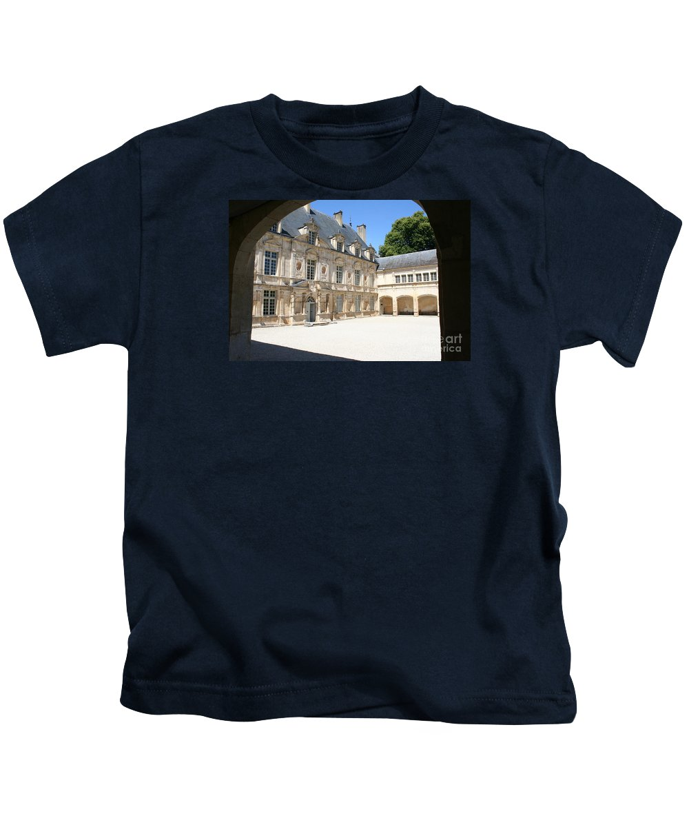 Palace Kids T-Shirt featuring the photograph Arch View Palace Bussy Rabutin by Christiane Schulze Art And Photography