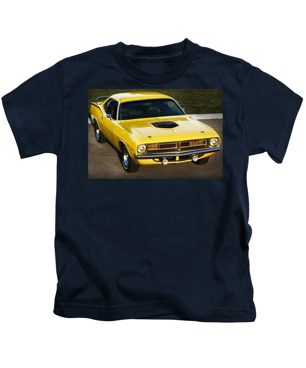 1970 Kids T-Shirt featuring the photograph 1970 Plymouth Hemi 'cuda by Gordon Dean II