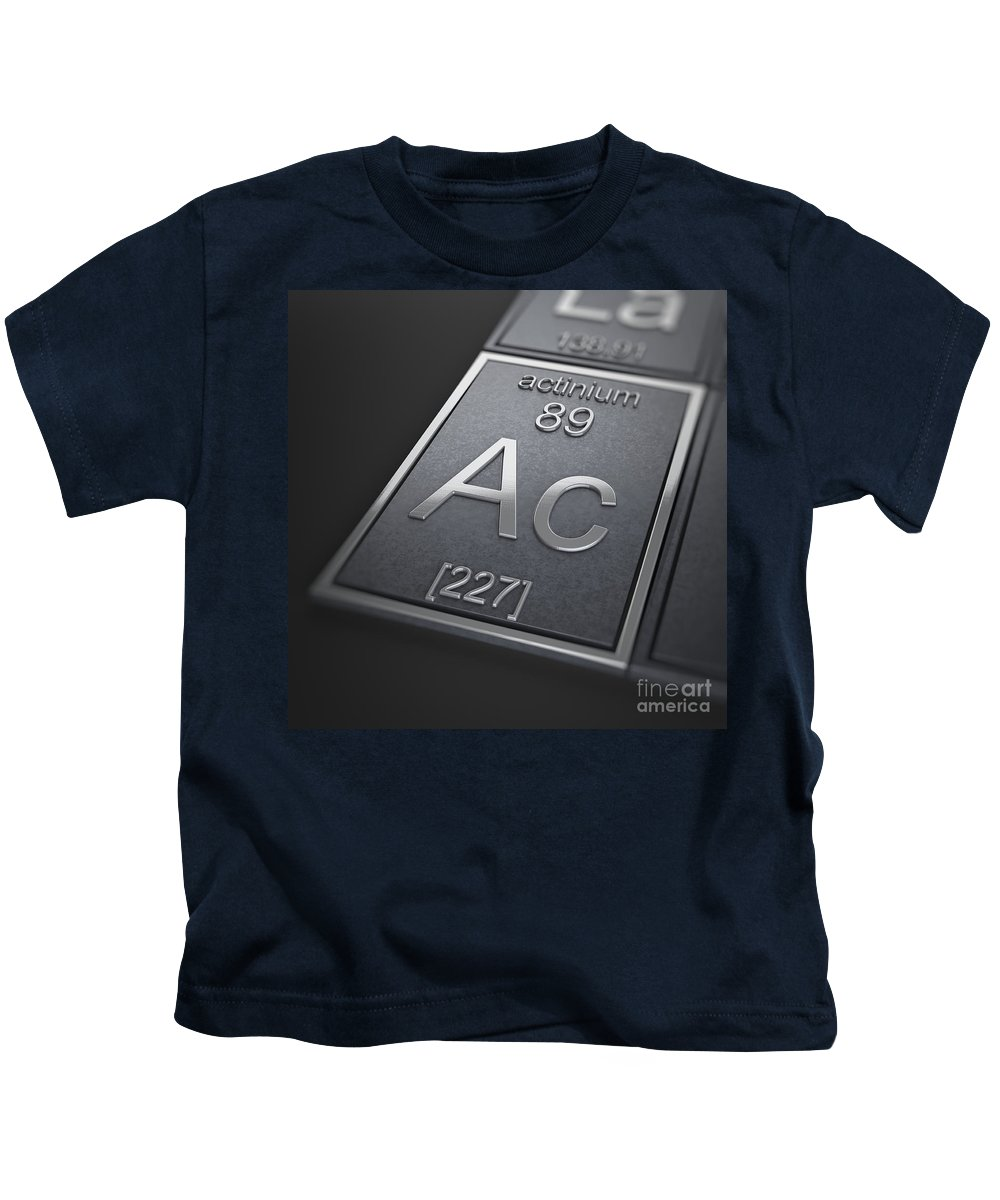 Actinium Kids T-Shirt featuring the photograph Actinium Chemical Element by Science Picture Co