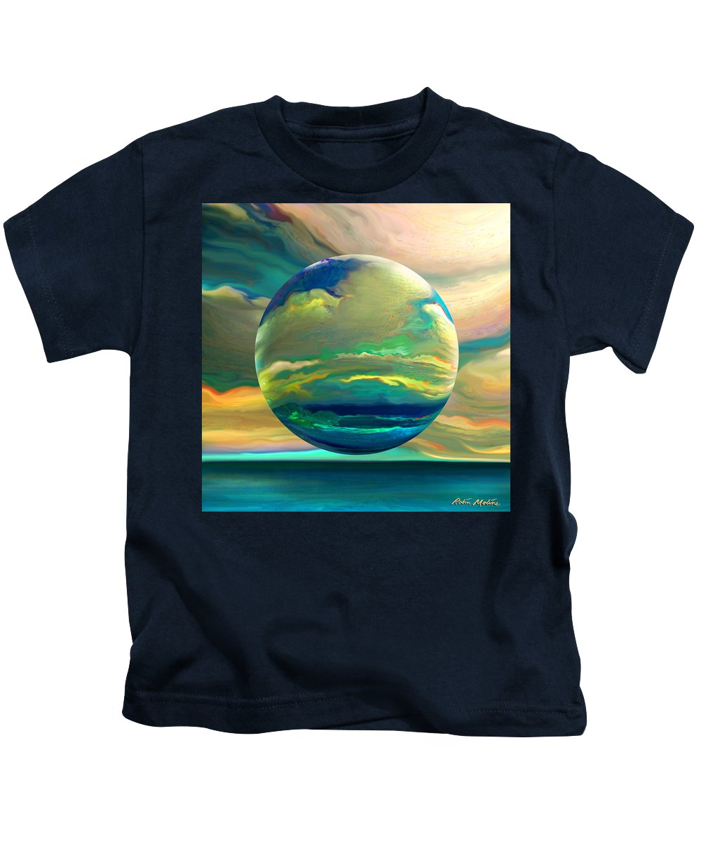 Dreamscape Kids T-Shirt featuring the digital art Clouding The Poets Eye by Robin Moline
