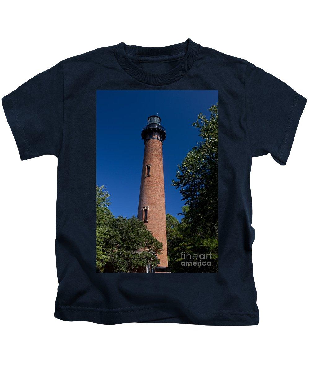 Currituck Beach Lighthouse Kids T-Shirt featuring the photograph Currituck Beach Lighthouse by Jason O Watson