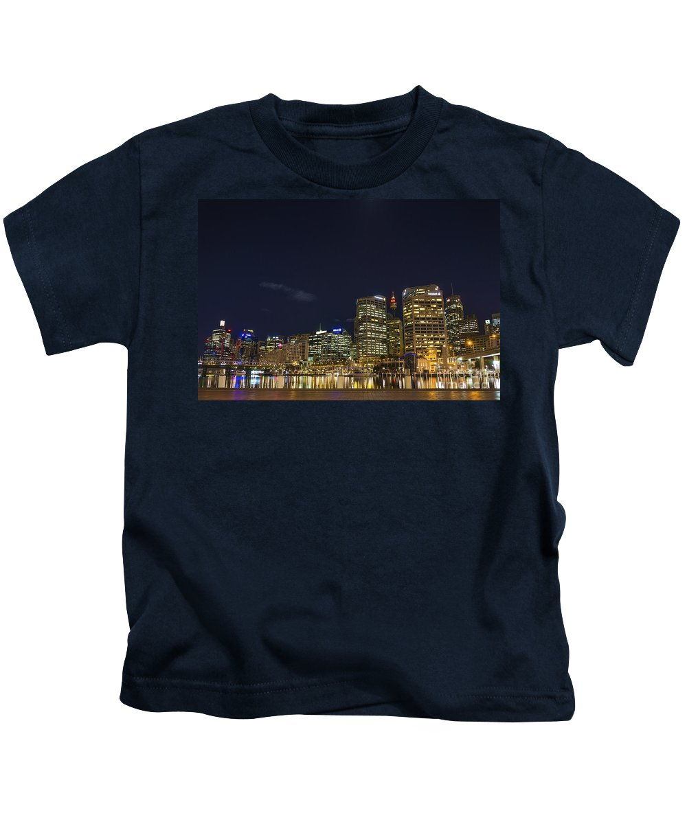 Architecture Kids T-Shirt featuring the photograph Darling Harbour In Sydney Australia by Jacek Malipan
